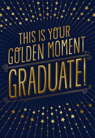 Golden Moment Jill Scott Musical Graduation Card
