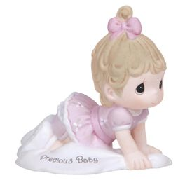 Precious Moments® Growing in Grace Brunette Hair Baby Girl Crawling Figurine, Age 1, , large
