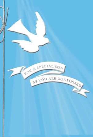 For a Special Son White Dove Confirmation Card
