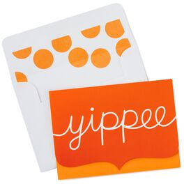 Orange Yippee Bubble Blank Note Cards, Box of 10, , large