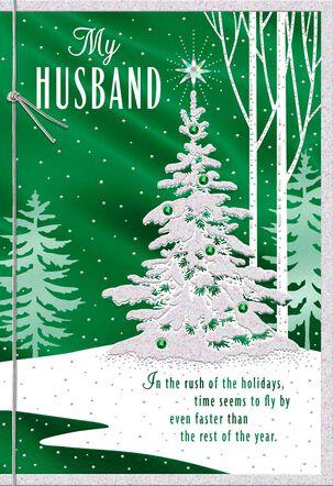 Deep Gratitude Christmas Card for Husband