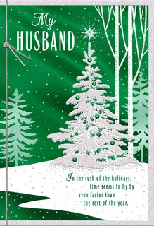 Deep Gratitude Christmas Card for Husband,