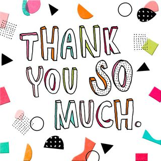 Colorful Thank You Card,