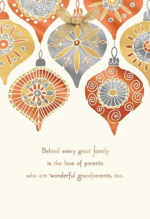 Wonderful Grandparents Christmas Card