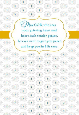 God Is Near Religious Sympathy Card