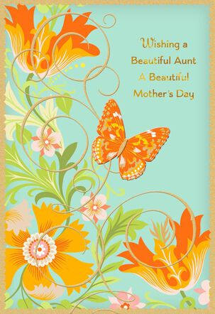 For a Beautiful Aunt Mother's Day Card