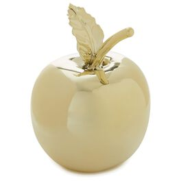 Gold Apple Paperweight, , large
