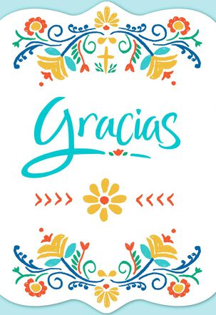 May God Bless You Always Spanish-Language Religious Thank You Card