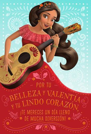 Disney Elena of Avalor Birthday Card With Stickers