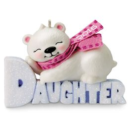 Polar Bear Daughter Ornament, , large
