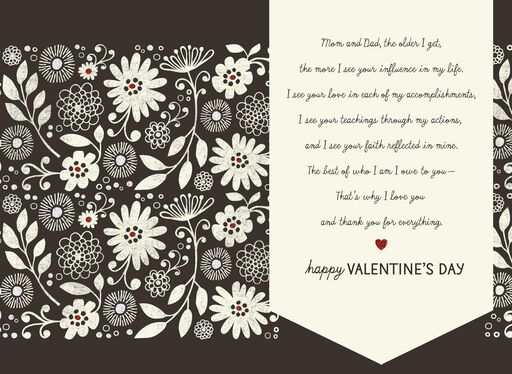 Meaning of Love Valentine's Day Card for Parents,