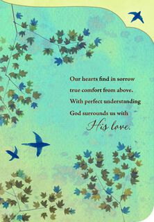 Birds and Tree Branches Religious Sympathy Card,