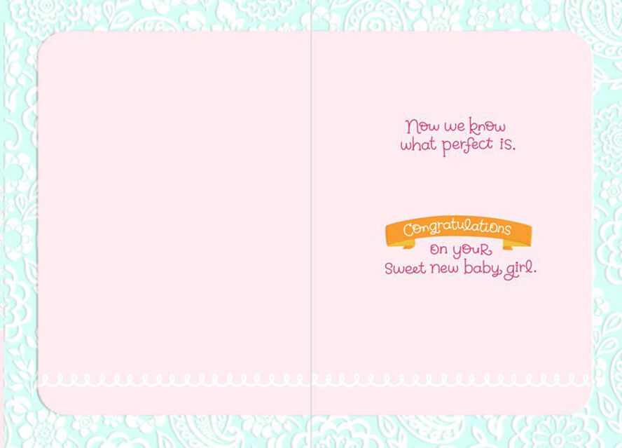 Sweet New Baby Girl Congratulations Card Greeting Cards Hallmark