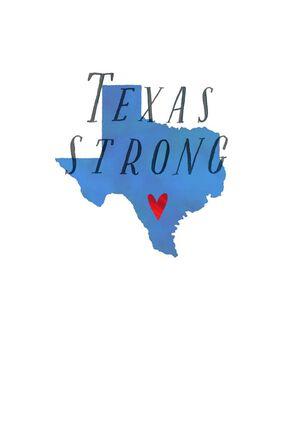 Texas Strong Hurricane Relief Blank Card