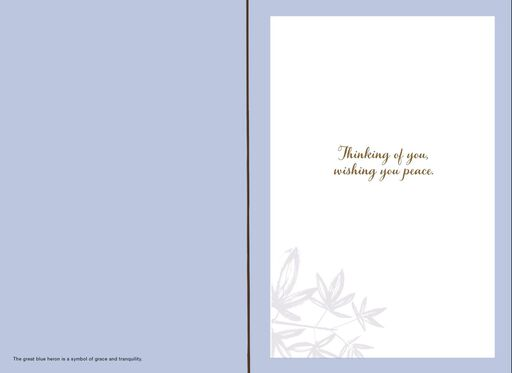 Wishing You Peace Sympathy Card,