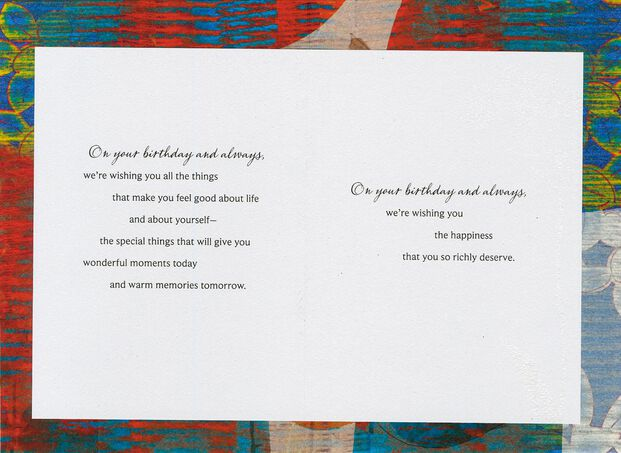 Wishing You Happiness Birthday Card For Son From Parents