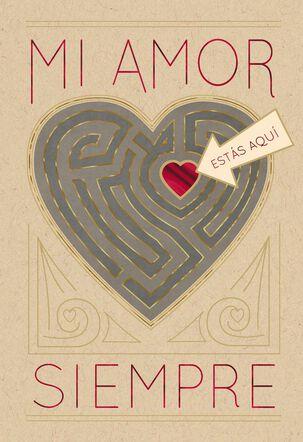 Heart Maze Spanish-Language Love Card