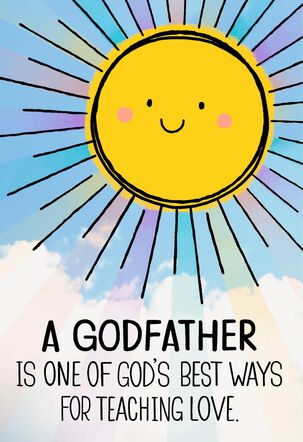 Smiling Sun Father's Day Card for Godfather
