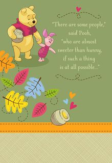 Winnie the Pooh Sweet as Hunny Grandparents Day Card,