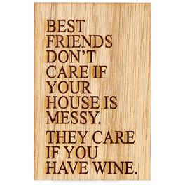 Friends Don't Care About the Mess, Just the Wine Magnet, , large