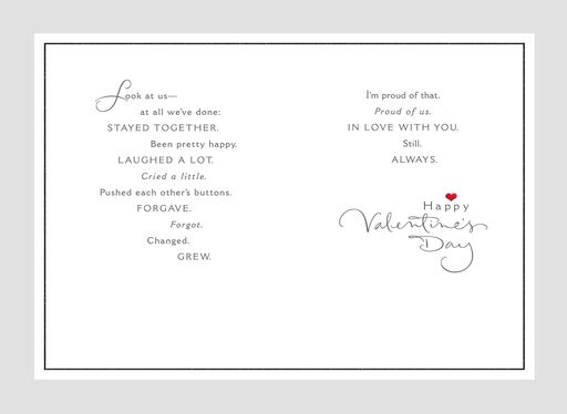 Authentic Love for Husband Valentine's Day Card,