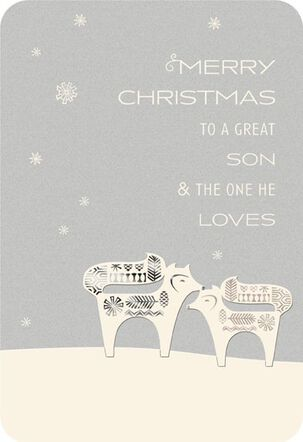 Great Son and His Loved Ones Christmas Card