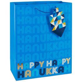 "Happy Hanukkah X-Large Gift Bag, 15.5"", , large"