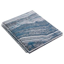 Blue Marble Spiral Notebook, , large