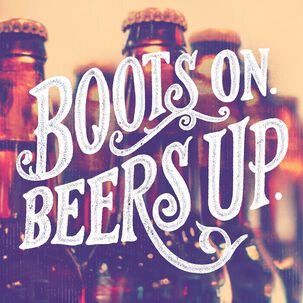 Boots and Beers Musical Birthday Card