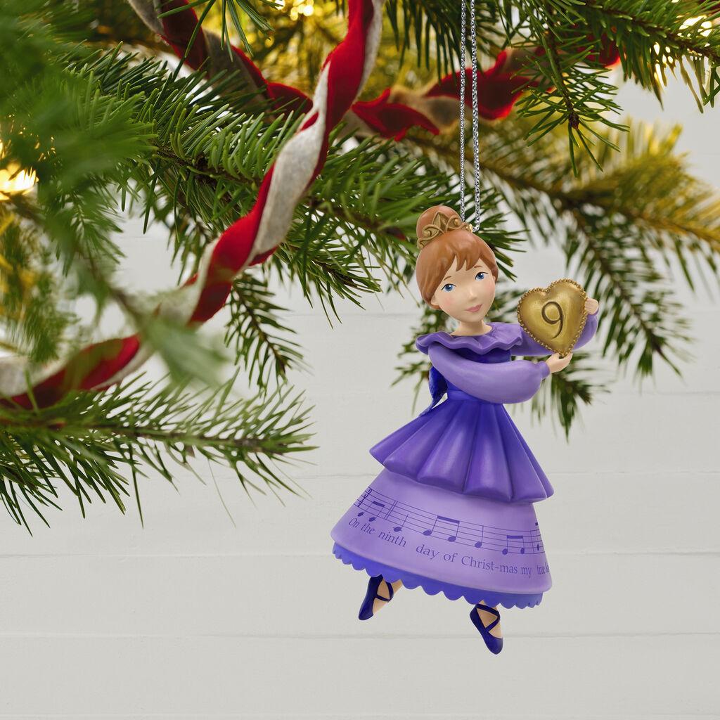 Hallmark 12 Days Of Christmas Ornaments 2019 Twelve Days of Christmas Nine Ladies Dancing Ornament   Keepsake