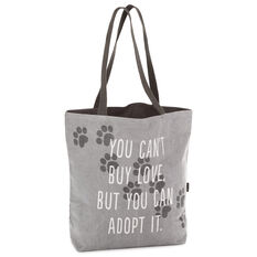ALL proceeds to CARES non-profit pet rescue rescue fundraiser love tote dog lover Love Paw Print Tote bag Love Paw Print stacked tote
