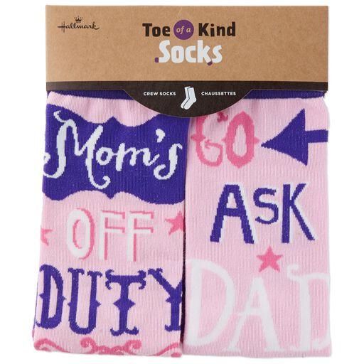 6010dc201fe6 ... Mom s Off Duty Toe of a Kind Socks