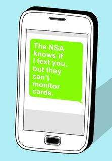 NSA Can't Monitor Funny Birthday Card,