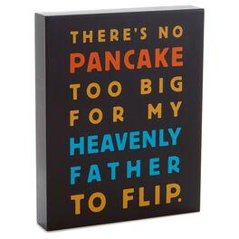 Pancake Sentiment Wood Plaque, , large
