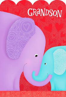 You're Loved Ginormously, Grandson Valentine's Day Card,