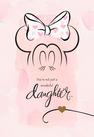Minnie Mouse Valentine's Card for Daughter