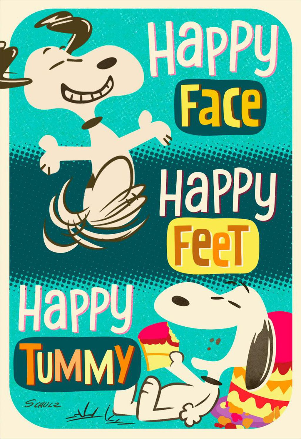 PeanutsR Snoopy Happy Feet Birthday Card
