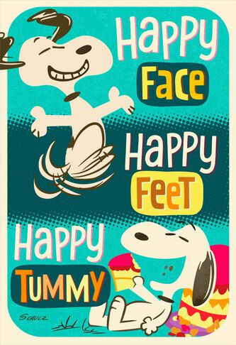 Peanuts Snoopy Happy Feet Birthday Card Greeting Cards Hallmark