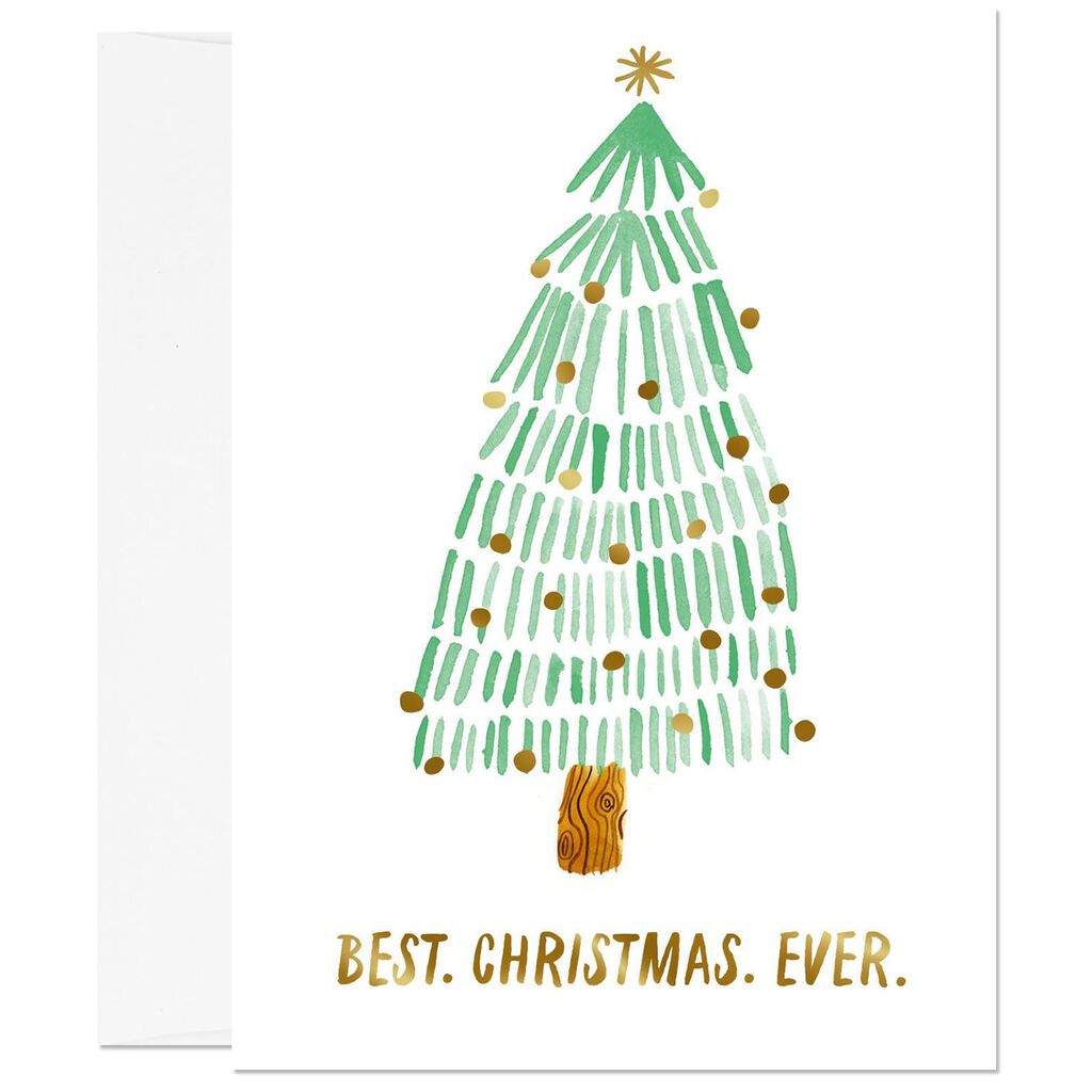 Best. Christmas. Ever. Fir Tree Christmas Card - Greeting Cards ...