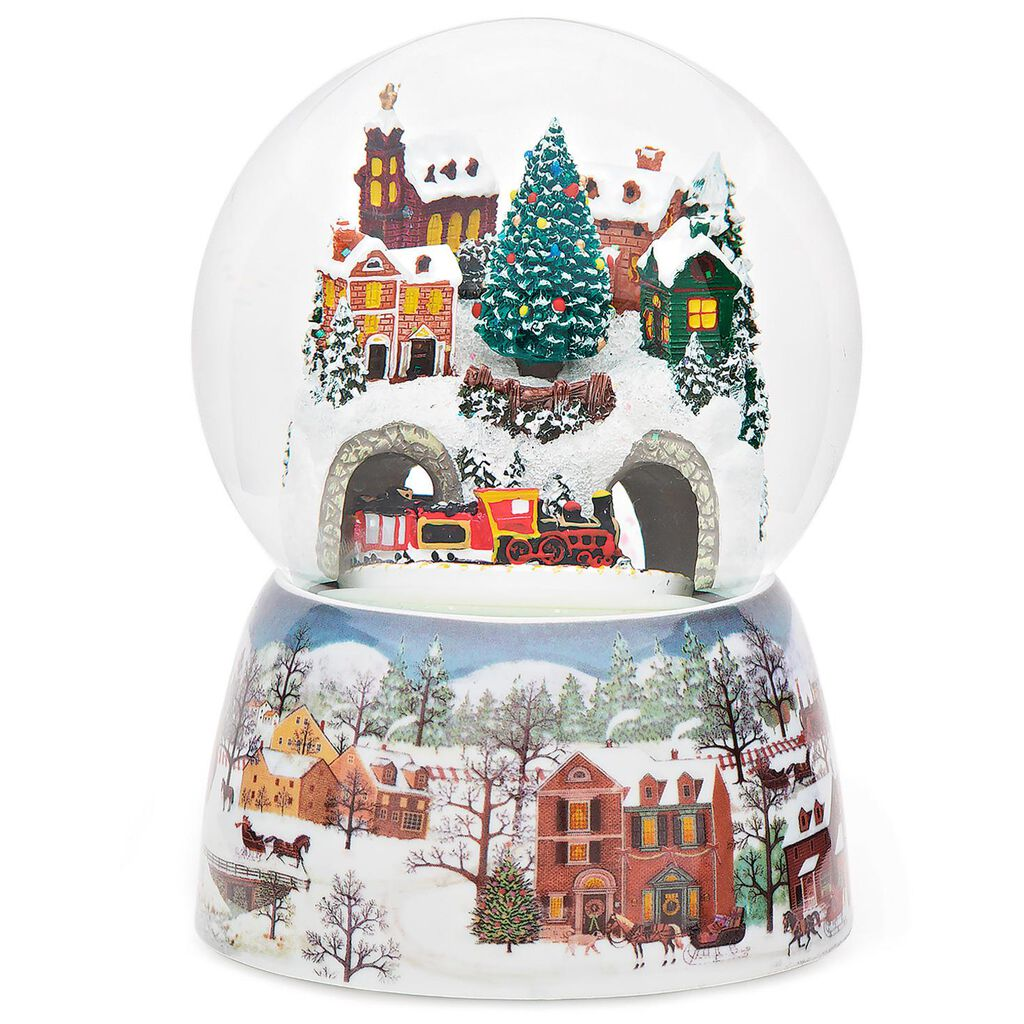 Christmas Train Glitterdome Musical Snow Globe With Motion - Snow ...