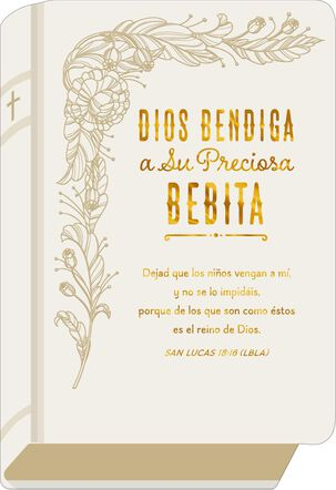 Precious Girl Love Spanish-Language Religious New Baby Card