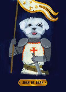 Joan of Bark Dog Thank You Card,