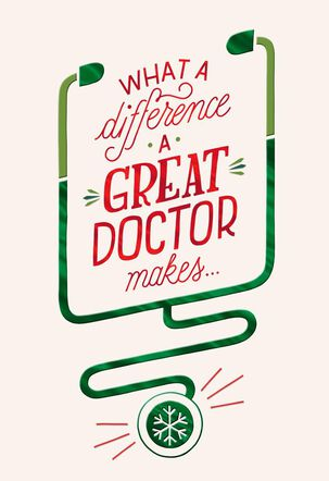 For a Great Doctor Christmas Card