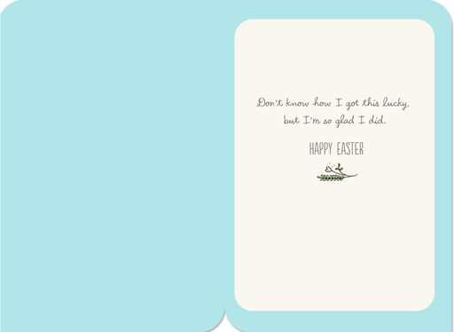 Lucky in Love Easter Card,