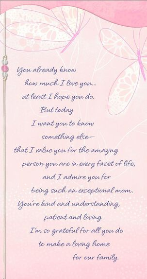 You're a Remarkable, Amazing Mom and Wife Mother's Day Card