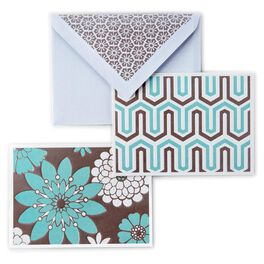 Geometric Floral Blank Note Cards, Box of 50, , large