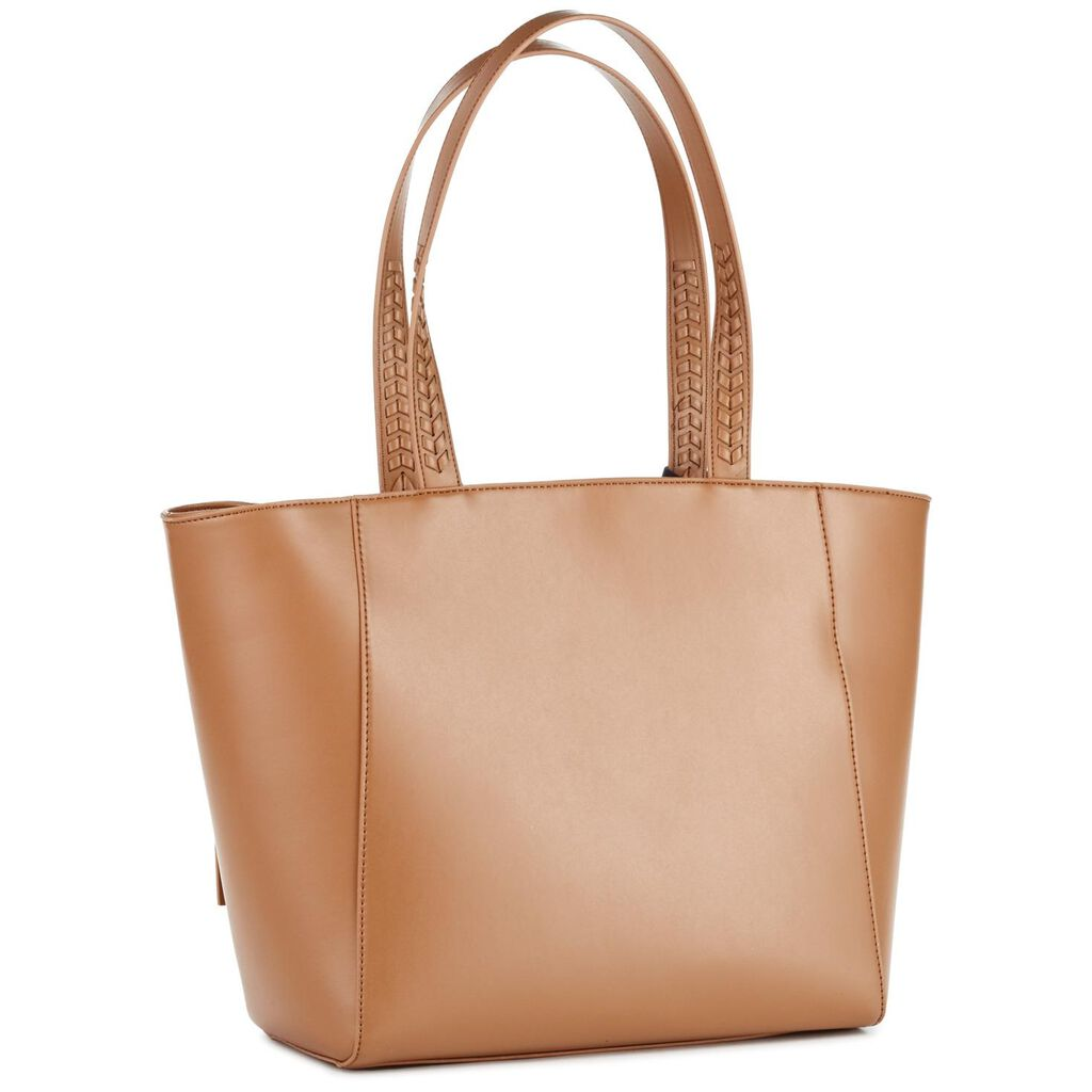 Mark Hall Camel Expanding Tote Bag
