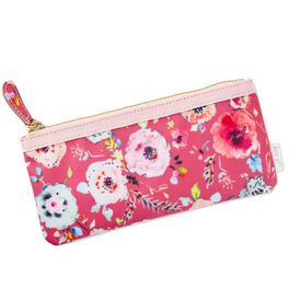 Haute Girls™ Pink Floral Pencil Pouch, , large