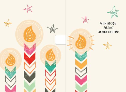 Warm, Sunny Candles Musical Birthday Card,