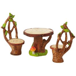 Fairy Garden Table and Chairs Decoration, , large